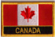 Canada Embroidered Flag Patch, style 09.